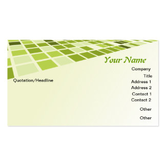 Green Checkers Business Card