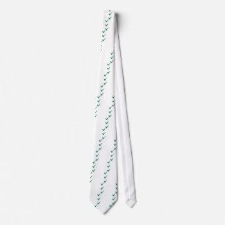 Green checks marks neck tie