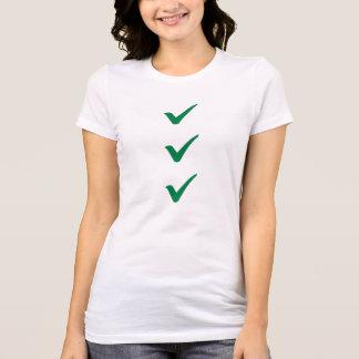 Green checks marks T-Shirt