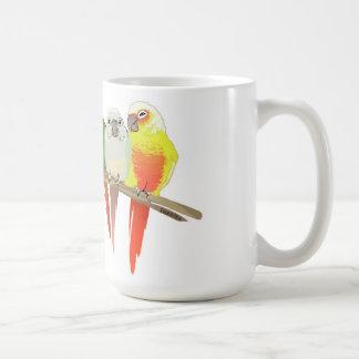 Green Cheek Conure Classic White Coffee Mug
