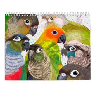 Green Cheek Conure Parrot 2021 Calendar