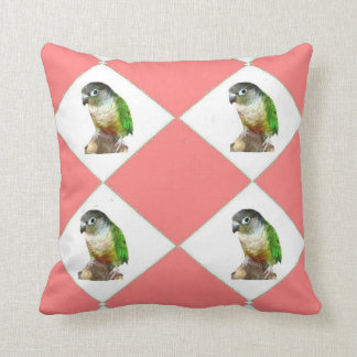 Green Cheek Conure Throw Pillow