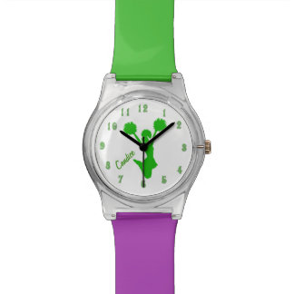 Green Cheerleader Custom Watch