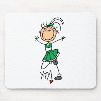 Green Cheerleader Mouse Mat
