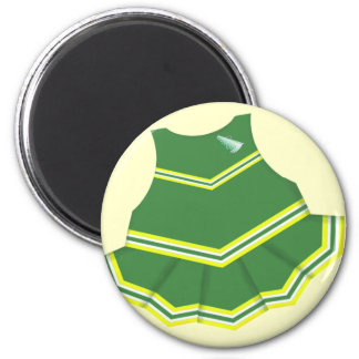 Green Cheerleader Outfit Magnet