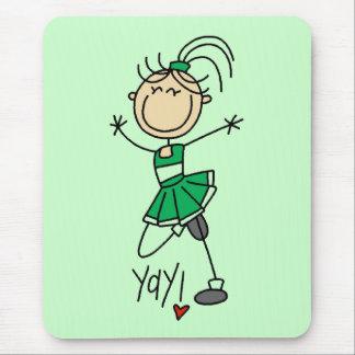 Green Cheerleader Tshirts and Gifts Mouse Pad