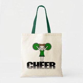 Green Cheerleading T-shirts and Gifts Budget Tote Bag