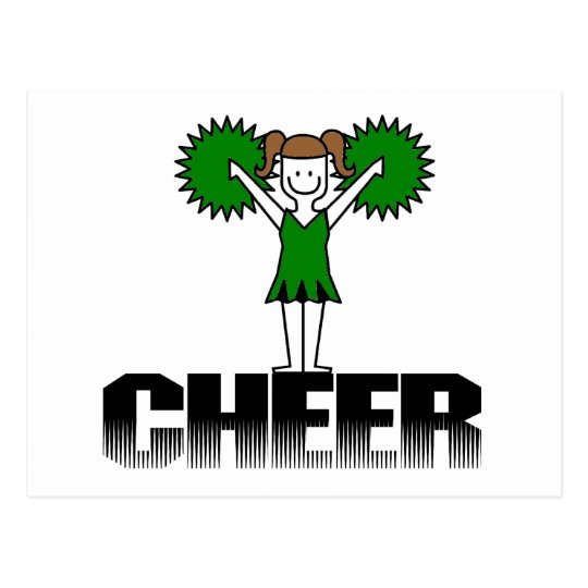 Green Cheerleading T-shirts and Gifts Postcard