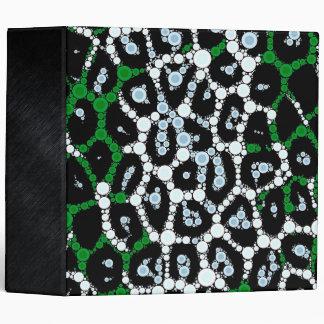 Green Cheetah Circle Abstract 3 Ring Binder
