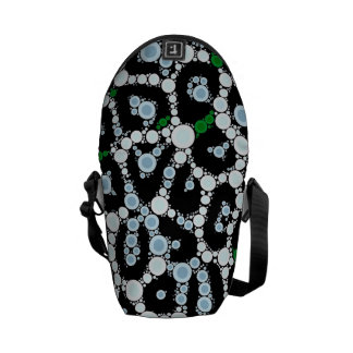 Green Cheetah Circle Abstract Courier Bag