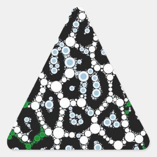 Green Cheetah Circle Abstract Triangle Sticker