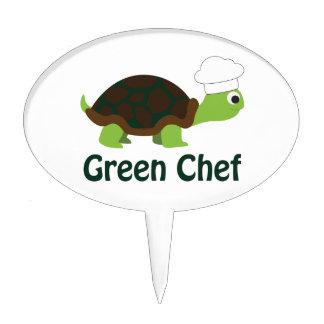 Green Chef Cake Topper