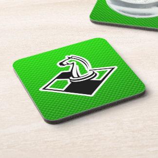 Green Chess Beverage Coaster