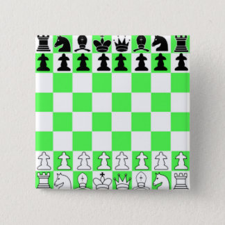 Green Chess Board Game Pinback Button