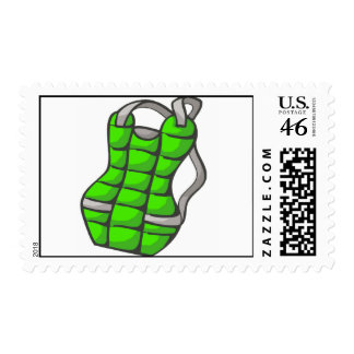 Green Chest Protector Postage Stamp