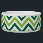 "Green Chevron Bowl<br><div class=""desc"">Awesome chevron pattern. Perfect for any dog or cat.</div>"