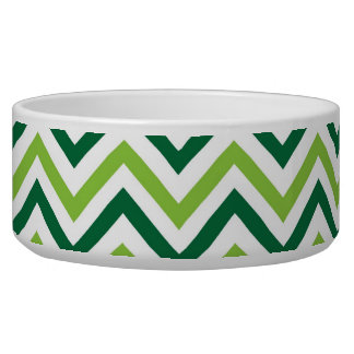 Green Chevron Bowl