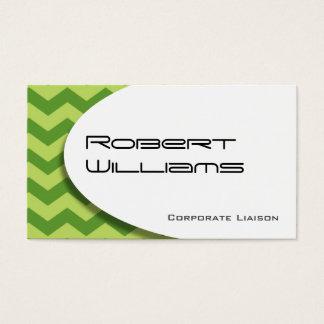 Green Chevron Modern Professional Business Card