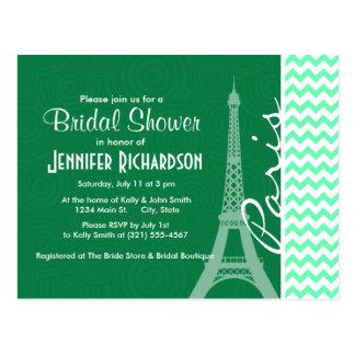 Green Chevron; Paris Postcard