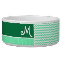 Green Chevron Pattern Bowl