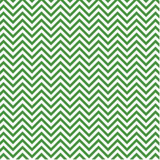 Green Chevron Pattern Cutout