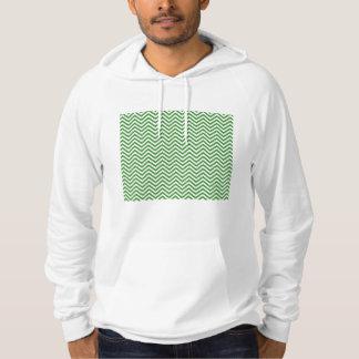 Green Chevron Pattern Hoodie