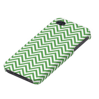 Green Chevron Pattern iPhone 4 Covers