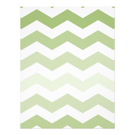 Green Chevron Pattern Letterhead Template | Zazzle