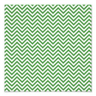 Green Chevron Pattern Art Photo