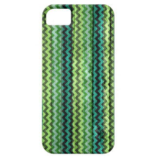 Green Chevron Pattern Wooden iPhone SE/5/5s Case