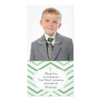 Green Chevron, Religious Photo Card