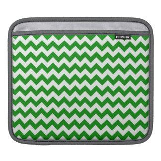 Green Chevron Stripes iPad Sleeves