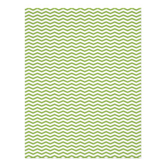 Green Chevron/Zig Zag Scrapbook Paper Personalized Flyer