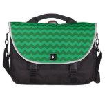 green chevrons commuter bag