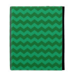 green chevrons iPad folio case