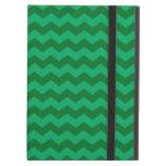 Green chevrons iPad folio cases