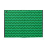 Green chevrons iPad mini cover