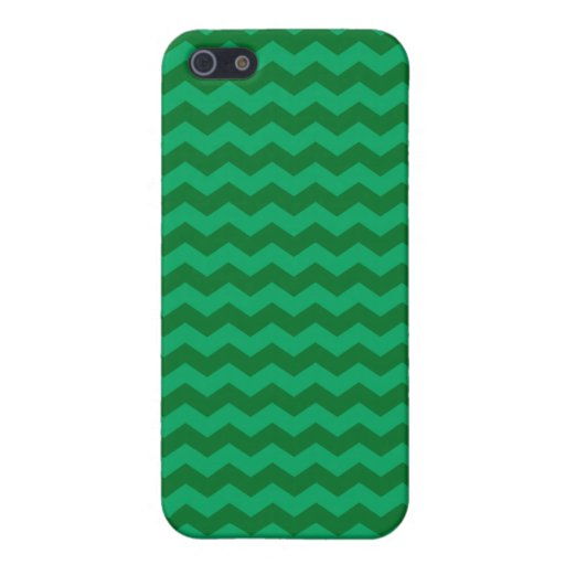 Green chevrons iPhone 5 case