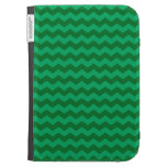 Green chevrons kindle 3 cover