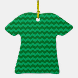 green chevrons Double-Sided T-Shirt ceramic christmas ornament