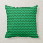Green chevrons pillows