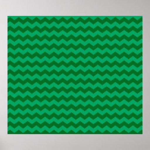 green chevrons poster