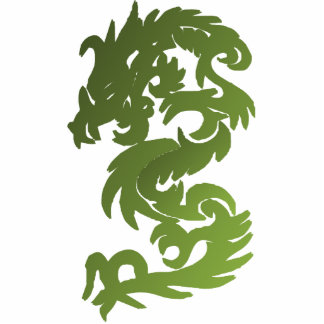 Green Chi Dragon Photo Sculpture Magnet