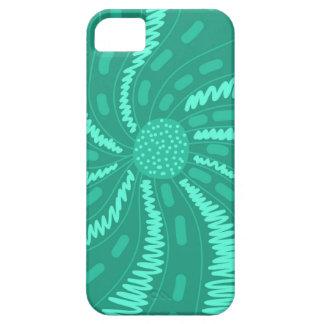 Green chic ornament iPhone SE/5/5s case