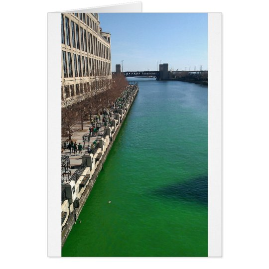 Green Chicago River Card