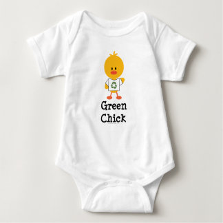 Green Chick Baby Bodysuit
