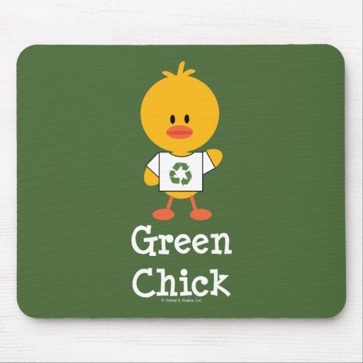 Green Chick Mousepad