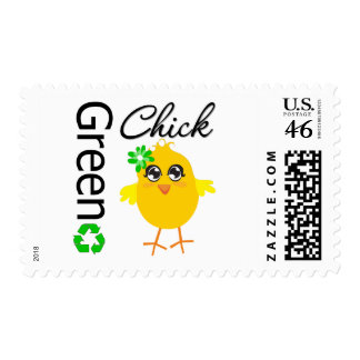 Green Chick Postage