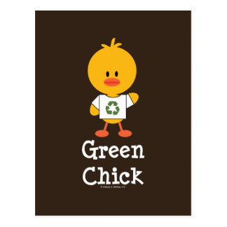 Green Chick Postcard