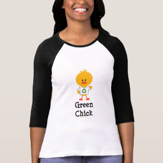 Green Chick Raglan Tee Shirt
